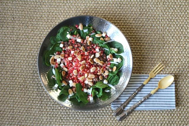 ensalada de quinoa y granadas